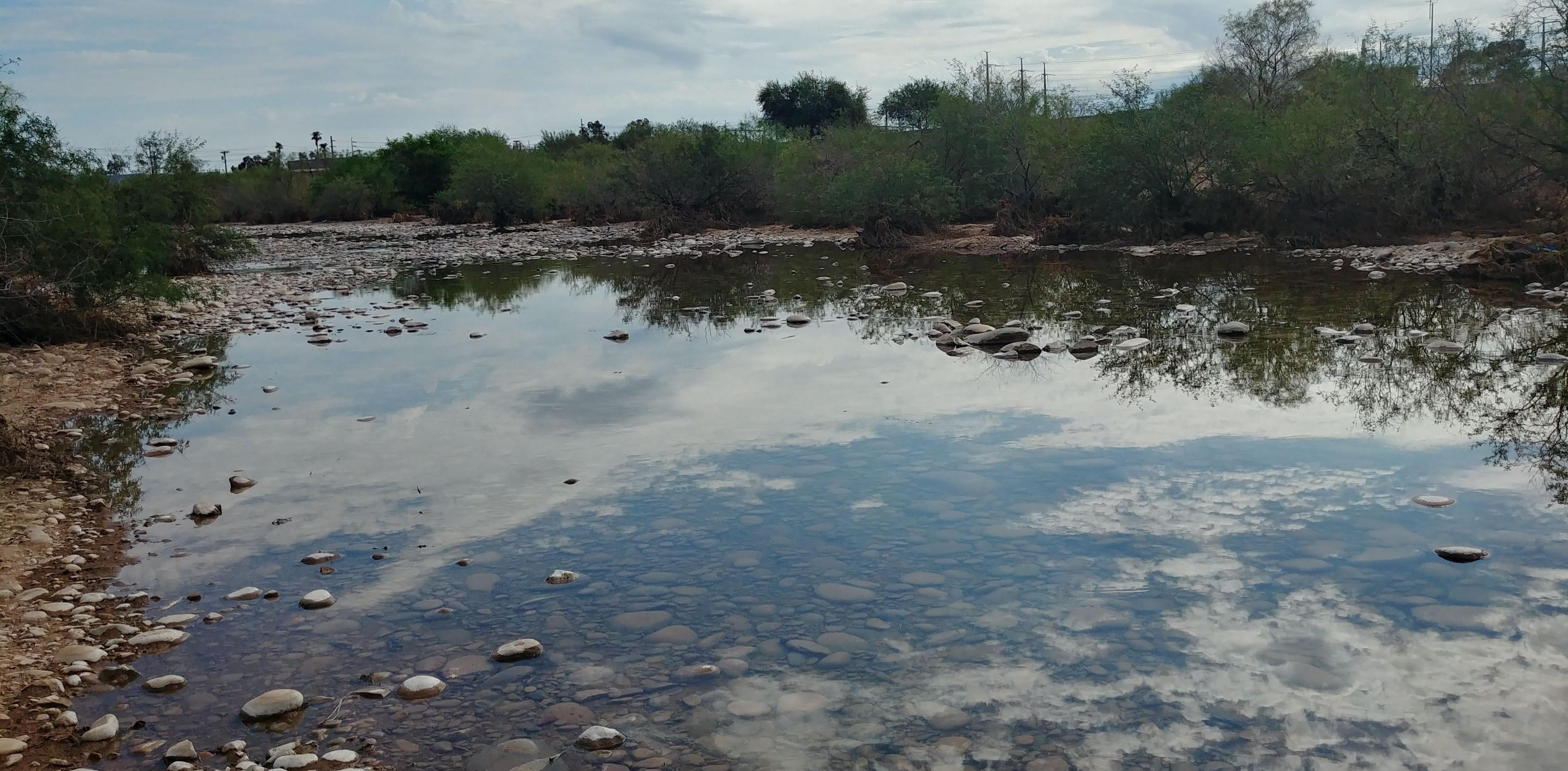 Water pond in the Arizona Desert